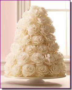 bolo para casamento flores