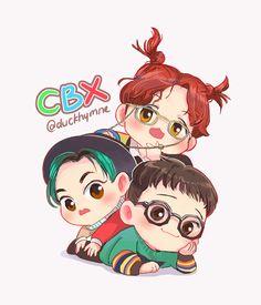 Chen, xiumin,baekhyun and exo image Exo Xiumin, Kpop Exo, Baekhyun Fanart, Kpop Fanart, Exo Ot12, Chanbaek, K Pop, Exo Cartoon, Cartoon Drawings