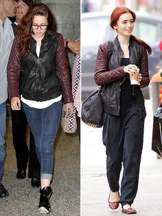AllSaints leather jacket.  Maybe you get this jacket when you play Snow White?!