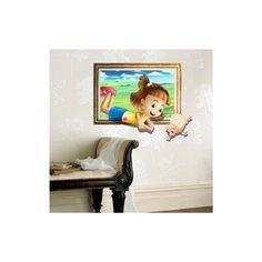 Art Mural - Stickers Muraux - 3D Sticker mural - Art mural Papier 3D Fille revêtements muraux PVC lavables Stickers mureaux 3d Wall, Wall Art, 3d Sticker, Art Mural, Animation, Wallpaper, Home Decor, 3d Paper, Wall Cladding