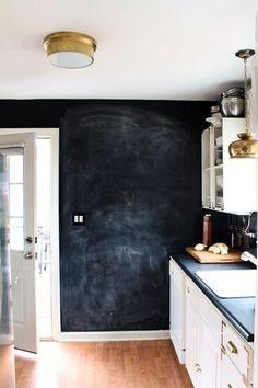 kuchnia, ściana do pisania, kredowa