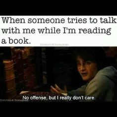 Book nerd plus the Harry Potter pic equals amazing I Love Books, Good Books, Books To Read, My Books, Book Memes, Book Quotes, Humor Books, Hahaha Joker, Funny Quotes