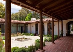 courtyard ~ a complete renovation and substantial addition to a 1924 Spanish Revival adobe house. Architecture Design, Farmhouse Architecture, Chinese Architecture, Architecture Office, Futuristic Architecture, Spanish Style Homes, Spanish House, Spanish Revival, Hacienda Style Homes