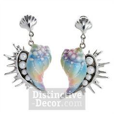 Franz Seashell Porcelain Earring Set - $139