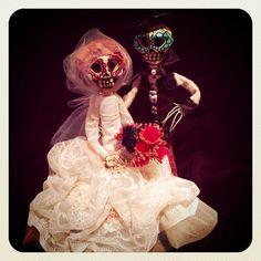Till Death Do Us Part Cake Topper, Custom Day of The Dead Cake Topper