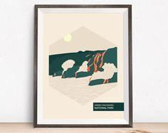 National Park Poster - Volcano - Anniversary Gift - Hawaii Volcano National Park  - Travel Posters - Rustic Wedding Gift - Nursery Decor