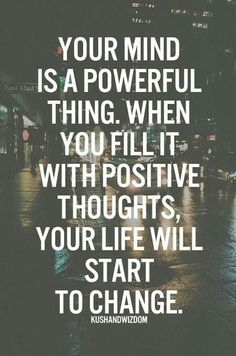 Positive thoughts...