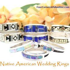 Native American Cherokee Wedding Rings American Indian Sterling