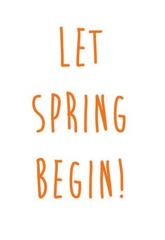 Let spring begin! 💐