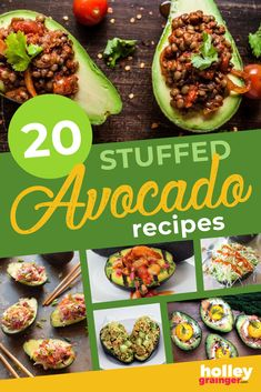 Whether you're looking for a low-carb lunch, a keto friendly breakfast, a Mediterranean diet inspired side dish or just want to have some fun with your food, then these stuffed avocado recipes are for you!  From pulled pork to shrimp salad to veggie-packed slaw to breakfast ingredients, you're sure to find a new favorite healthy recipe within this list. | Holley Grainger - Cleverful Living Side Salad Recipes, Avocado Recipes, Lunch Recipes, Healthy Dinner Recipes, Keto Recipes, Healthy Meals For Kids, Quick Meals, Healthy Snacks, Easy Dinners
