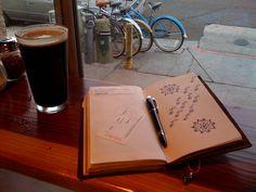 Midori Travelers Notebook.  Cute Doodling.