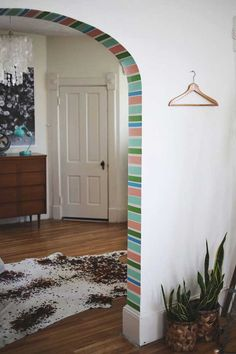 Easy DIY Archway Accent with Washi Tape