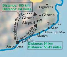 Barcelona: Travel by train/bus from Girona to Barcelona.