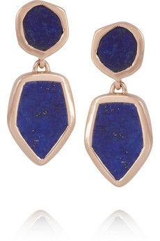 Monica Vinader Atlantis rose gold-plated lapis lazuli earrings | NET-A-PORTER