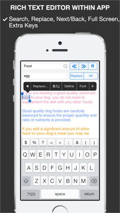 File - Manager Reader & Editor is for your iOS devices with iCloud, Dropbox and Offline support  ● Storage  - iCloud, Dropbox, Offline  - Allow to use iCloud and Dropbox from local caches  - Trash feature, easy to recover files from deleted files  ● Reader & Viewer  - View office and other files (.doc, .docx, .xls, .xlsx, .ppt, .pptx, and all other supports by apple)  - Allow to open all kind of documents or files support by iOS SDK  ● Rich Text Editor  - Edit Text files with built-in…