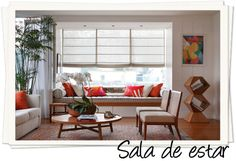 sala de estar com banco na janela dica decoracao assim eu gosto