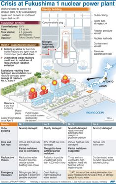New york times diagrams describing the details of the fukushima graphic with illustrations of the fukushima 1 nuclear power plant and parts of a reactor building ccuart Gallery