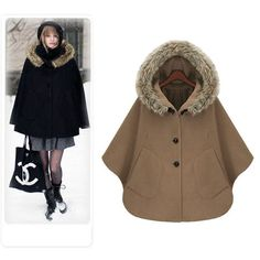 Cheap dresse, Buy Quality dress wool coat directly from China dress 2012 Suppliers: Winter Jackets Women, Coats For Women, Clothes For Women, Fleece Poncho, Hooded Poncho, Winter Trench Coat, Iranian Women Fashion, Dress With Shawl, Moda Vintage