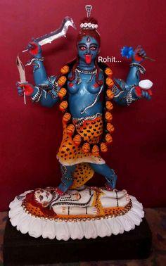 Mother Kali, Divine Mother, Kali Statue, Kali Mata, Durga Images, Kali Goddess, Durga Maa, Hindu Art, Horse Photography