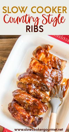 When you don't want to grill, try the next best thing! Slow Cooker Country Style Ribs are tender, juicy and full of delicious BBQ flavor!