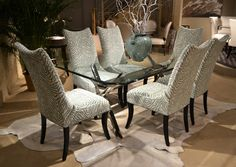 Designmaster Nassau Dining Chair set in Turquoise and cream zebra skin look Designmaster Furniture Teal Dining Chairs, Dining Chair Set, Leopard Print Chair, Desk Chair Covers, Whimsical Painted Furniture, Folding Camping Chairs, Stylish Chairs, Southern Living, Cool Furniture