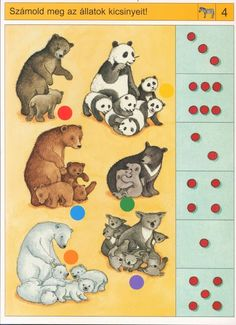 Begeleide of zelfstandige activiteit - Hoeveel jonkies heeft ieder dier? Preschool Zoo Theme, Preschool Printables, Fun Math, Preschool Activities, Autism Activities, Infant Activities, Book Activities, Sequencing Cards, Le Zoo