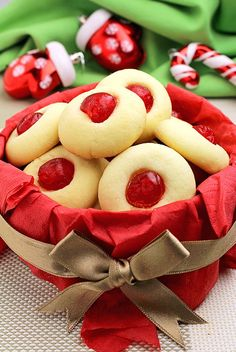Holiday Maraschino Cherry Shortbread Cookies