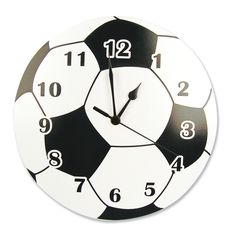 Features:  -Round shape with soccer ball design.  -AA battery not included.  -Great for use in rooms for babies and toddlers.  -Easy to read numbers.  -Adds a decorative element.  -Background: White,