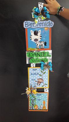 CARTEL DE BIENVENIDA DE BEBE.  TARJETERIA FINA HECHO A MANO EN VENEZUELA CON AMOR BY AITHANA INSPIRACION 02582519183   04244926727 AITHANAINSPIRACION@HOTMAIL.COM Baby Room, Decoupage, Nursery, Diy Crafts, Gifts, Toddler Girls, Frames, Airplane Baby Shower, Safari Baby Showers