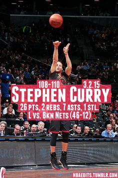 Stephen Curry - 3.2.15 - L vs. Brooklyn Nets - http://nbafunnymeme.com/nba-best-players-of-the-day/stephen-curry-3-2-15-l-vs-brooklyn-nets
