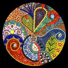 The Lock Stained Glass Mosaic Mandala