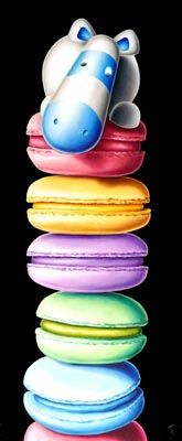 A signed limited edition boxed canvas of 150 by one of the most popular contemporary artists of our time, Peter Smith entitled Macarooned Peter Smith, Decoupage, Cow Painting, Art For Art Sake, Nursery Art, Art And Architecture, Contemporary Artists, Rainbow Colors, Food Art