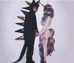Couples unicorn and dragon Halloween costume