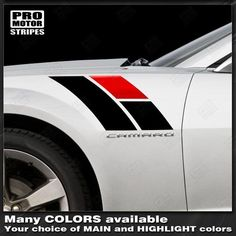 Chevrolet Camaro Fender Hash Side Stripes Anniversary Style 2019 2018 2017 2016 2015 2014 2013 2012 2011 2010 Chevrolet Camaro Vinyl Stripes Decals High quality factory style and unique Auto Graphics Chevrolet Camaro 2014, 2010 Camaro, Camaro 2ss, Car Stickers, Car Decals, Caddy Van, Volkswagen, Car Lettering, Super Fast Cars