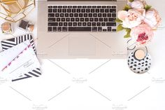 Desk Top Styled Photos by Kate Danielle Creative on @creativemarket