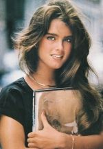 Brooke Shields and her trapper keeper