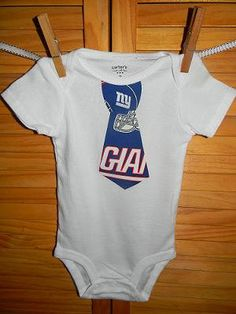 NY Giants Football Little Man Neck Tie Onesie- Long or Short Sleeve 12016ddcc