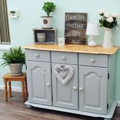 Revamped pine sideboard with Frenchic furniture paint.