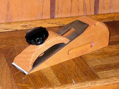 """Chisel Plane by FJPetruso -- Homemade chisel plane fashioned from hardwood and finished in a light oak stain. Features a 1-3/4"""" blade. http://www.homemadetools.net/homemade-chisel-plane"""