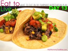 Day 13 What to eat on Dr Fuhrman Eat to Live Plan