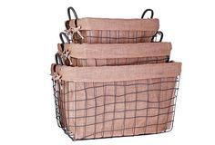 S/3 Rect. Farm House Baskets, Large on OneKingsLane.com
