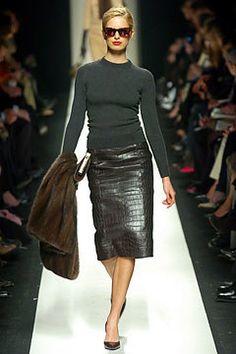 Céline Fall 2004 Ready-to-Wear Fashion Show - Karolina Kurkova