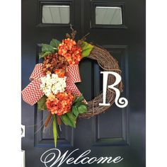 Fall Wreath Wreath Hydrangea Chevron Pinecone Pumpkin Wreath Country... (3,235 PHP) ❤ liked on Polyvore featuring home, home decor, holiday decorations, black, home & living, home décor, wreaths & door hangers, grapevine wreaths, pine cone wreath and autumn wreath