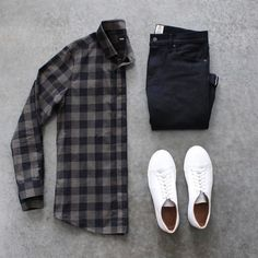 men's outfit grid - white sneakers