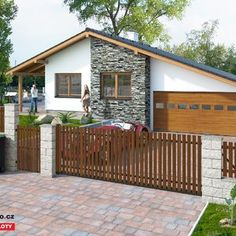 Dřevěný plot - Ořech Teak, Shed, Home And Garden, Outdoor Structures, Outdoor Decor, Home Decor, Fence Ideas, Gardening, Pine Tree