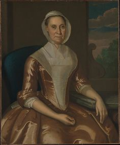 """Mrs. Richard Galloway"" by John Hesselius (1764) at the Metropolitan Museum of Art, New York"