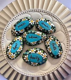 Affirmation Stones Words of Encouragement Painted Rock