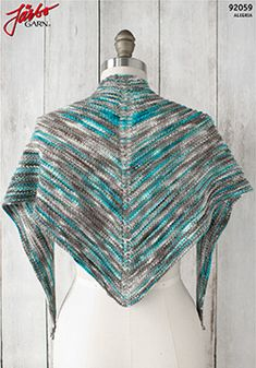 The Alegria Shadow Shawl from Manos Del Uruguay uses their beautiful Alegria yarn in a simple, textured shawl. Shawl Patterns, Knitting Patterns Free, Free Knitting, Knitting Ideas, Crochet Jacket, Knit Crochet, Purl Stitch, Knitted Shawls, Shawls And Wraps
