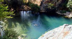 Swimming in Cueva del Gato