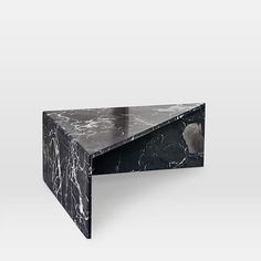 Like pieces of a puzzle, these marble tables can be arranged together as a side table or a staggered coffee table. Black West, Oversized Furniture, Tall Table, Black Side Table, Low Tables, West Elm, Bedding Shop, Objects, Art Deco